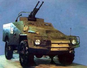 Бронетранспортер БТР-40А с зенитной установкой ЗТПУ-2. в Музее бронетанковой техники, Кубинка.