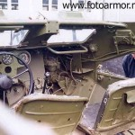 Место водителя и командира бронетранспортёра БТР-40.