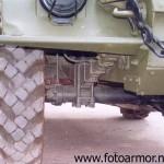 Передняя подвеска бронетранспортёра БТР-40.