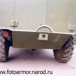 Задняя часть корпуса бронетранспортёра БТР-40.