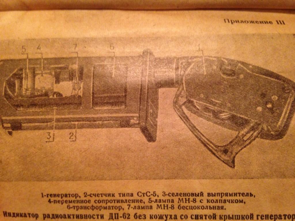 Индикатор радиоактивности ДП-52 без кожуха со снятой крышкой генератора