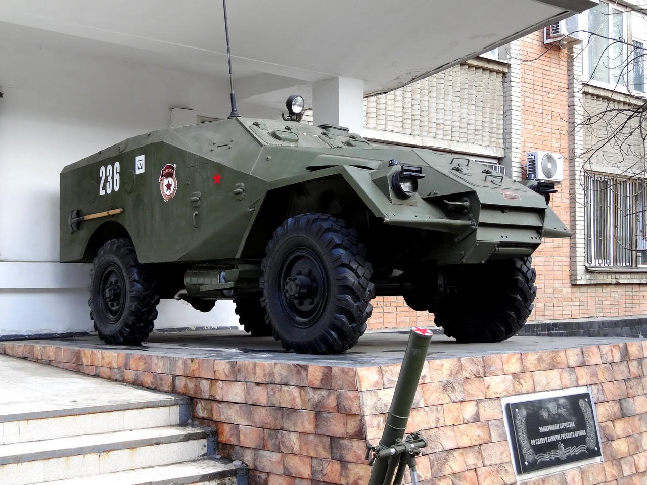 Постамент у штаба Южного военного округа